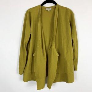 Loft Cardigan Sweater Women's Small Mustard Yellow